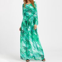 Creative Scrawl Tie Maxi Dress