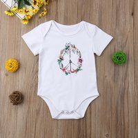 Baby Girl's Floral Pattern Romper