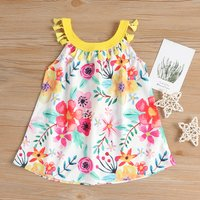 Stylish Boho Tassel Floral Print Sleeveless Dress for Baby and Toddler