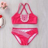 Stylish Bandeau Sling Girls Swimsuit