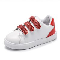 Pretty Sequined Color Blocked Velcro Sneakers