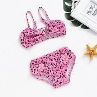 Baby/Toddler Girl's Pink Leopard Print Swimwear