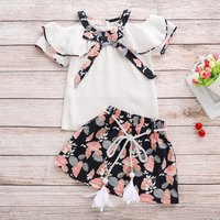 Baby/Toddler Girl's Chiffon Top and Flower Skirt