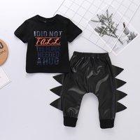 Baby / Toddler NEEDED A HUG Tee and Dino Serrated Pants Set
