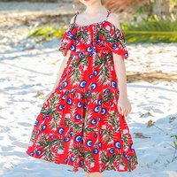 Beautiful Floral Off Shoulder Maxi Dress