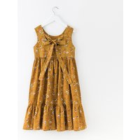 Fresh Floral Bowknot Design Sleeveless Dress