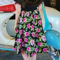 Beautiful Floral High Waist Skirt