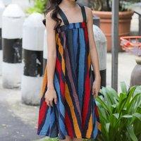 Fashionable Striped Slip Dress