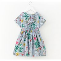 Breathable Floral Short-sleeve Dress