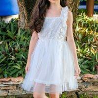 Pretty Solid Ruffled Sleeveless Party Dress
