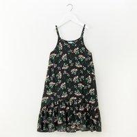Comfy Floral Slip Dress in Black