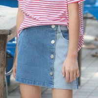 Fashionable Button Decor Denim Skirt