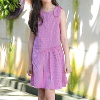 Comfy Striped Sundress in Hot Pink
