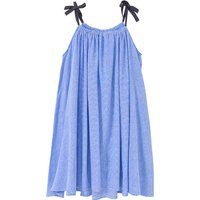 Classic Striped Slip Dress in Blue