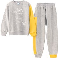 Fashionable Cartoon Design Sweatshirt and Pants Set for Kid