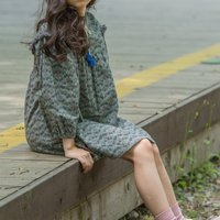 Casual Floral Long-sleeve Ruffled Dress