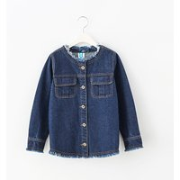 Stylish Tassel Design Denim Jacket for Kid