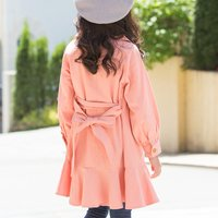 Adorable Bowknot Design Wind Coat for Kid