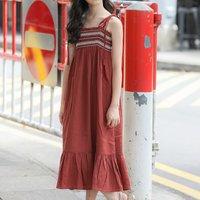 Sassy Lace-up Linen Maxi dress
