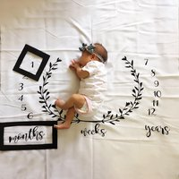 Creative Monthly Baby Milestone Blanket Photography Background Prop