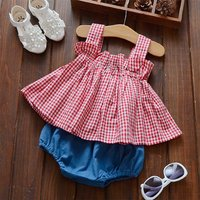 Ruffle Checkered Tank and Shorts Set