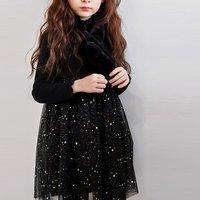 Sassy Long-sleeve Mesh Layered Dress