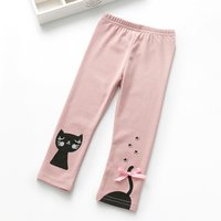 Cat Leggings with Bow
