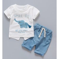 Elephant Tee and Shorts Set