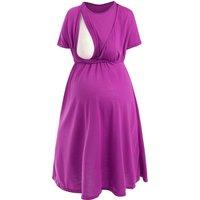 Solid Loose Maternity Nursing Dress