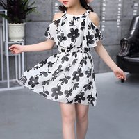 Classic Floral Cold Shoulder Dress