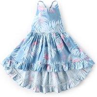 Sassy Floral Asymmetric Hem Design Slip Dress