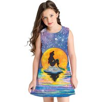 Abstract Pattern Printed Dress for Kid