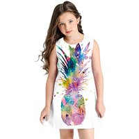 Adorable Pattern Printed Dress for Kid