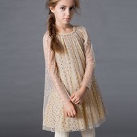 Pretty Princess Sequined Design Lace Dress for Kid