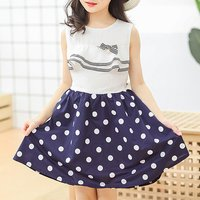 Pretty Princess Dotted Dress for Kid