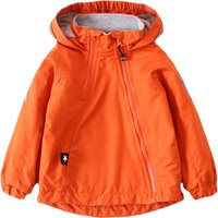Solid Hooded Fleece-lined Jacket in Orange for Toddler and Kids