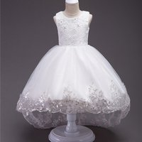 Girl's Awesome Lace Sequins Sleeveless Mesh Princess Dress