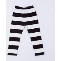 Baby White & Black Stripe Cotton Pants/Bottom