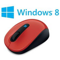 Image of Mouse Sculpt mobile mouse - mouse - 2.4 ghz - rosso fiamma 43u-00026
