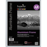 Photo Frame Clip In Aluminium with Clear Perspex Front A4 - ALA4-SV