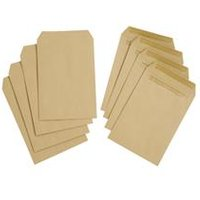 5 Star Value Envelope Manilla Press Seal Pocket  Pack 500    1R23