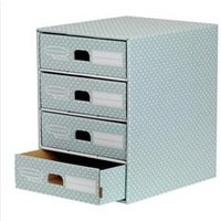 Bankers Box by Fellowes 4 Drawer Unit Fastfold Recycled FSC   4481701