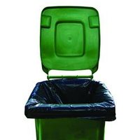 2Work Black Wheelie Bin Liners Medium Duty (Pk 100) - WBL