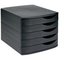 5 Star Elite Desktop Drawer Set 5 Drawers A4 and Foolscap Black  Black