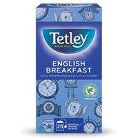 Tetley Tea Bags English Breakfast Drawstring in  Pack 25    1278