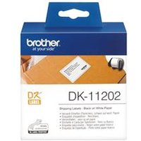Brother DK Labels DK-11202 62mm x 100mm Shipping Labels on a DK11202