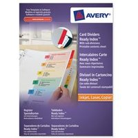 Image of Avery ReadyIndex Dividers L7411-10 A4 Plus 1-10 Numeric - 05065501