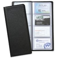 5 Star Office Classic Business Card Holder PVC 64 Pockets for 128