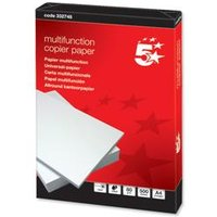 5 Star Office Copier Paper Multifunctional Ream-Wrapped 80gsm A4 White