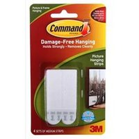 Command Picture Hanging Strips Medium [Pack 4] - 17201-4pk
